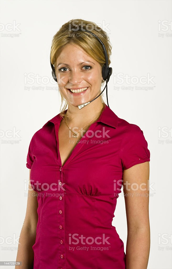 Call center success royalty-free stock photo