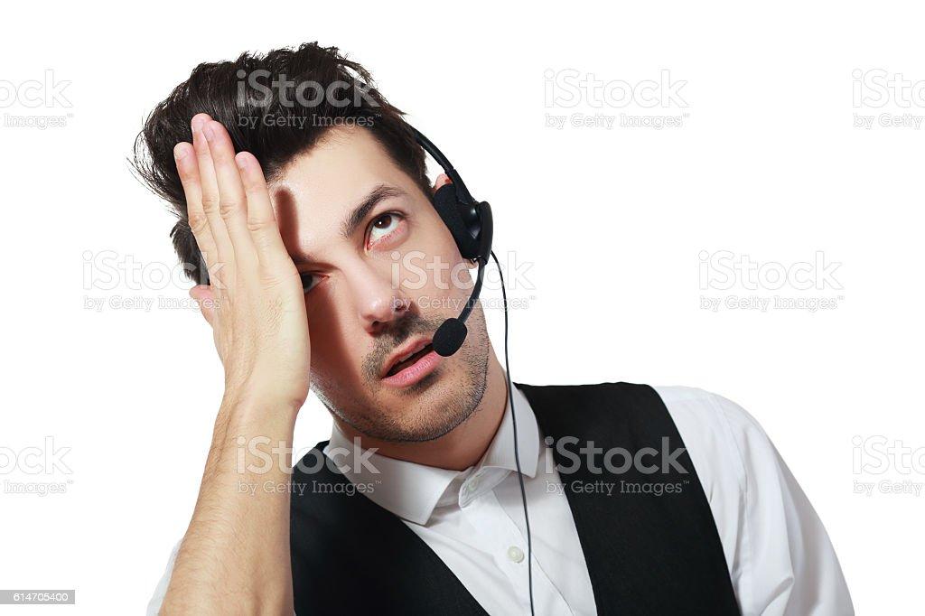 Call centre agent stock photo