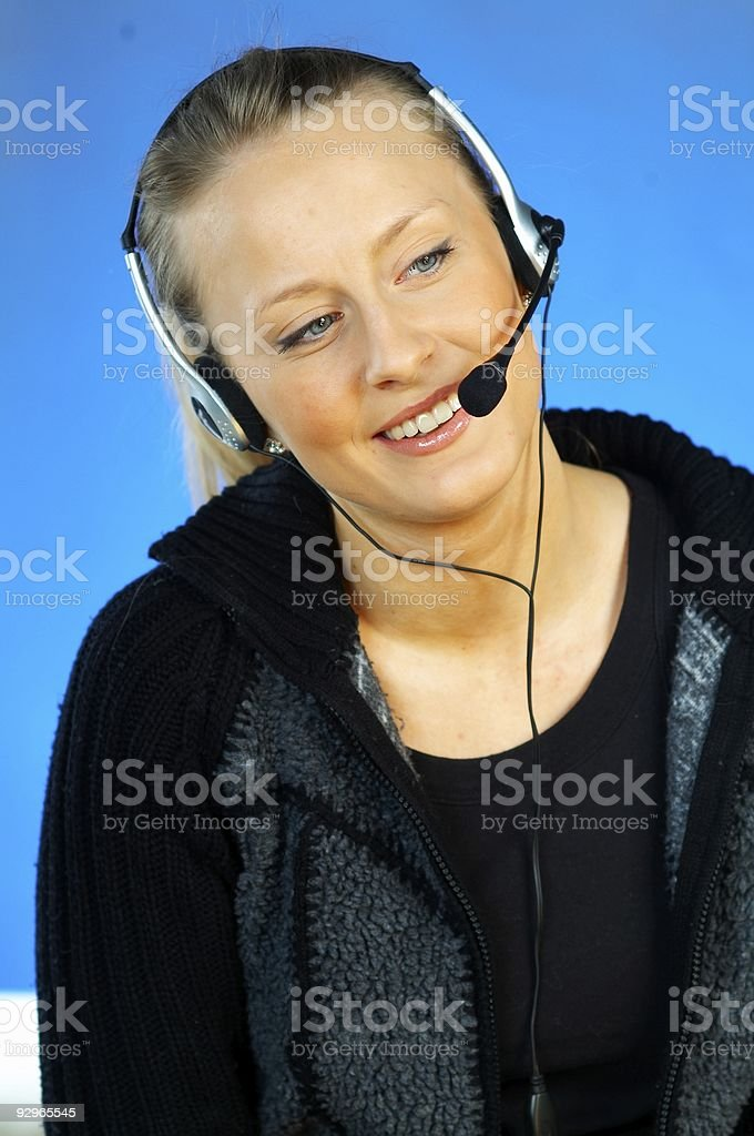 Call Centre Agent royalty-free stock photo