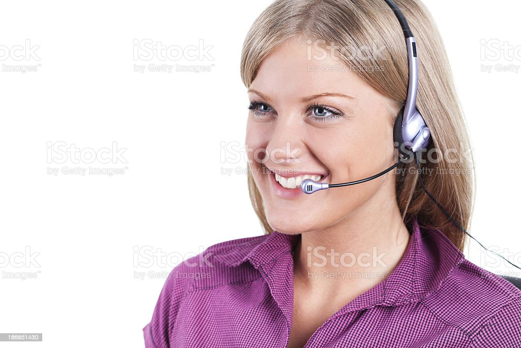 Call centre operator royalty-free stock photo