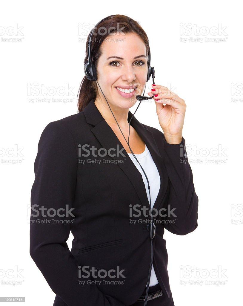 Call centre operator stock photo