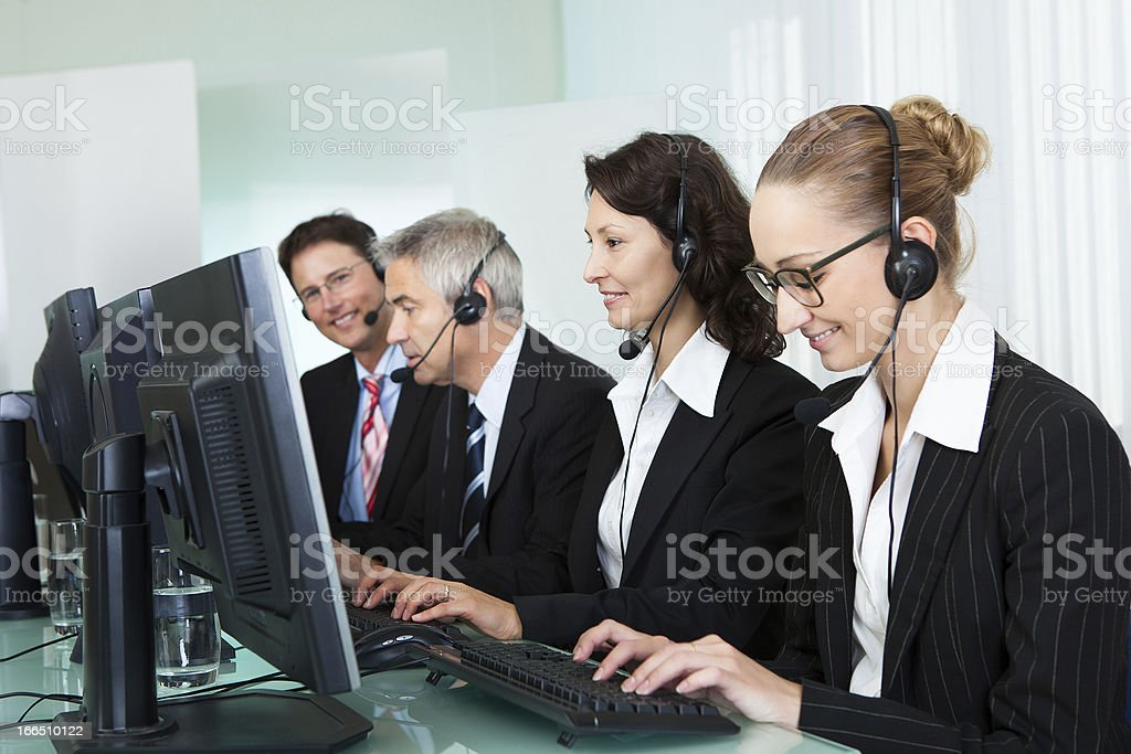 Call centre operators royalty-free stock photo