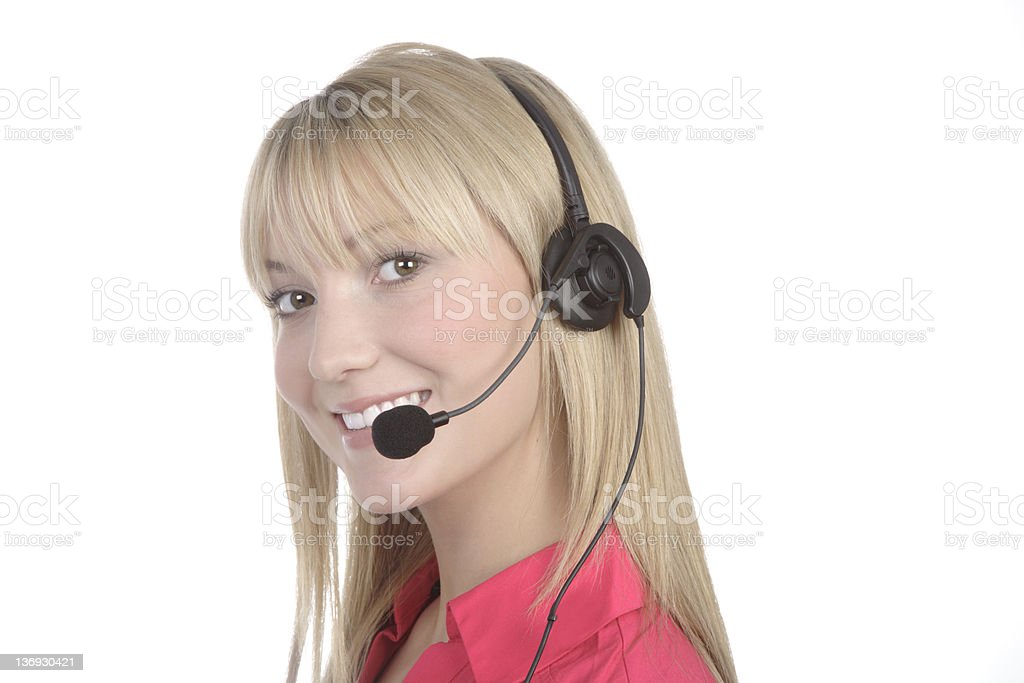 Call Centre Worker royalty-free stock photo