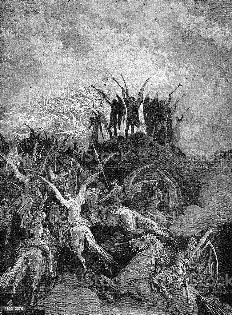 Call for the devilish spirits stock photo