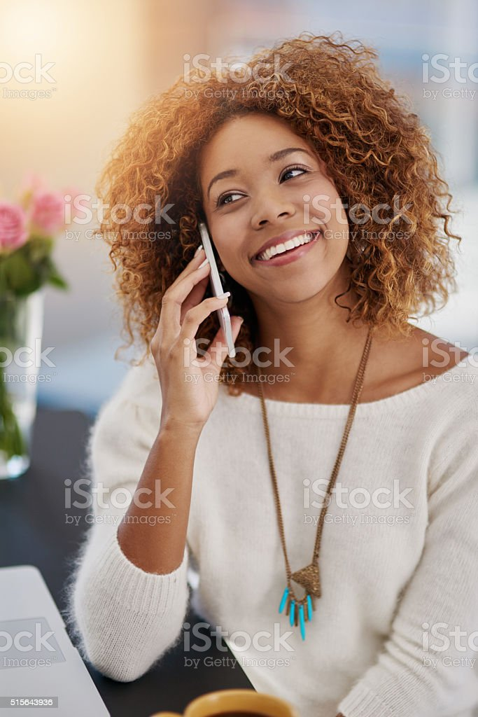 Call for updates anytime! stock photo