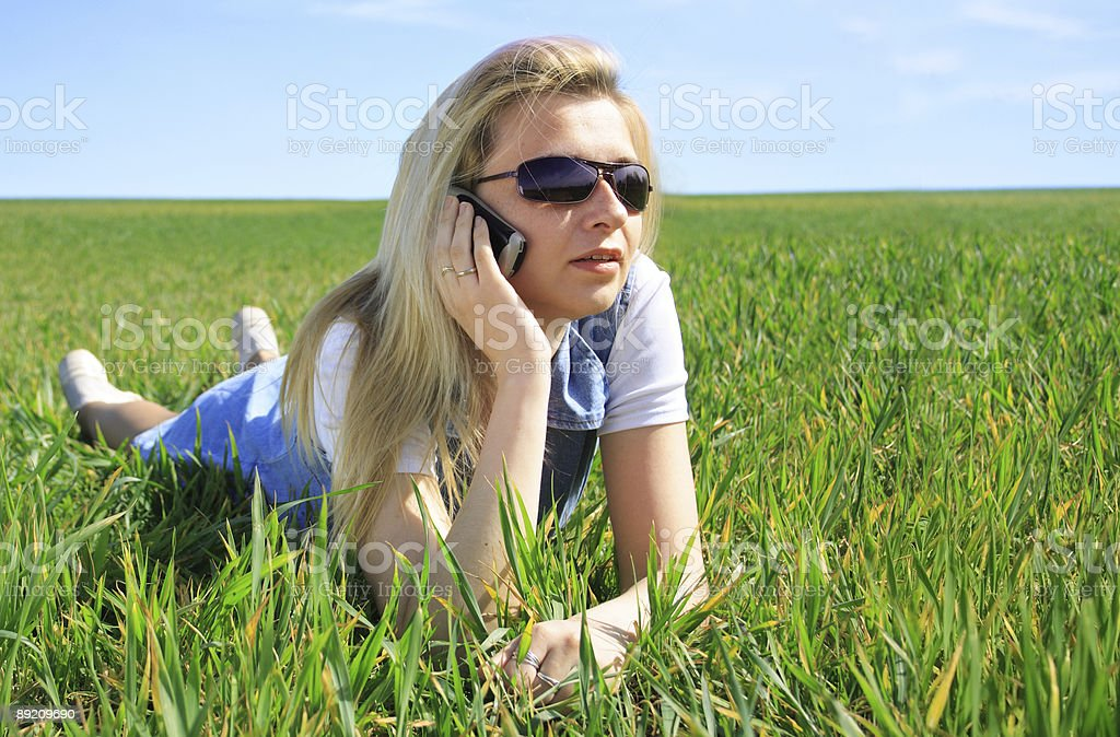 Call from field royalty-free stock photo