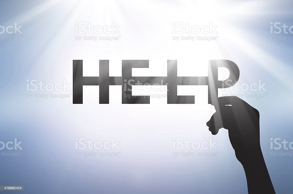 call help when we need support stock photo