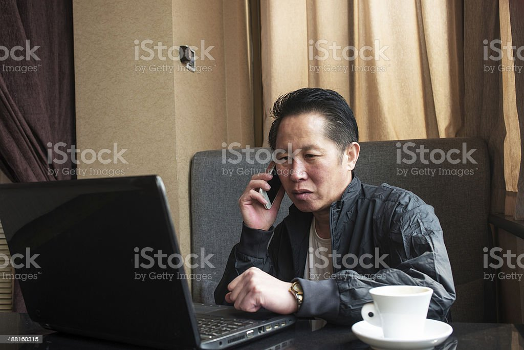 Call man royalty-free stock photo