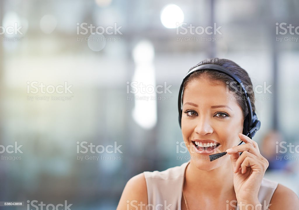 Call me for superior advice stock photo