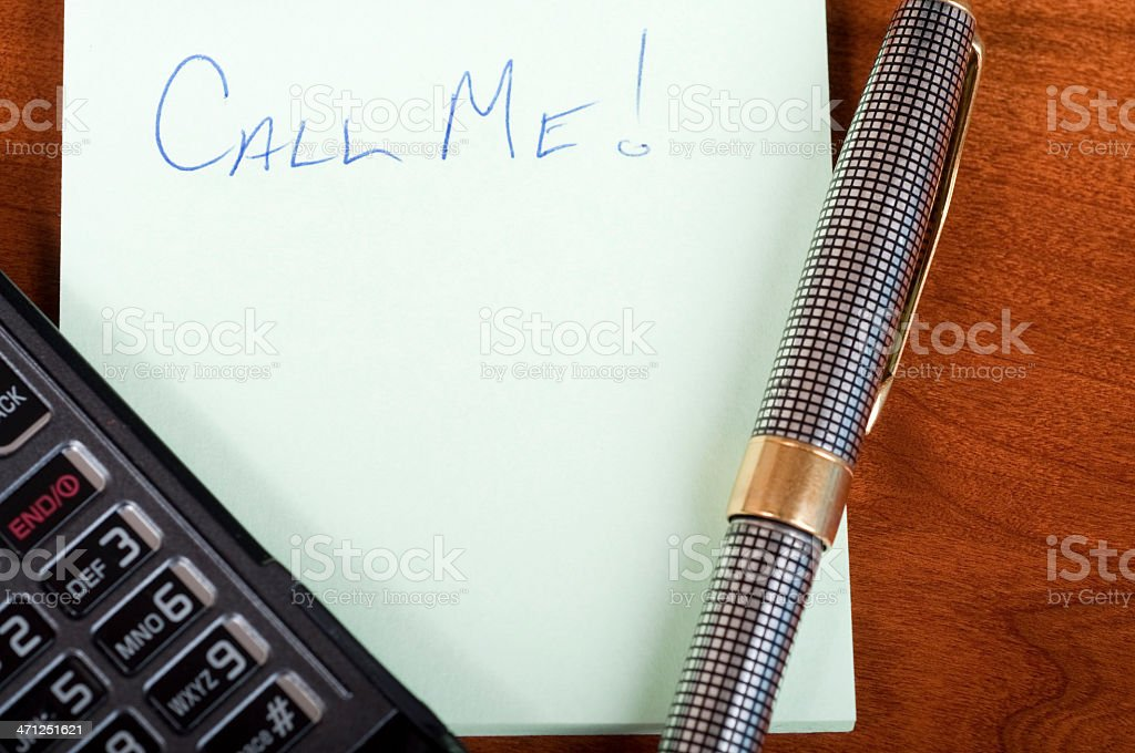 Call Me Message stock photo
