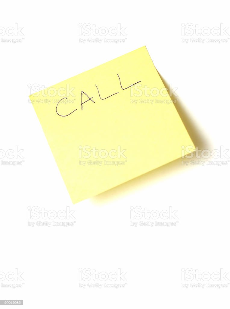 call note royalty-free stock photo