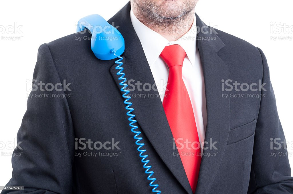 Call on hold concept stock photo