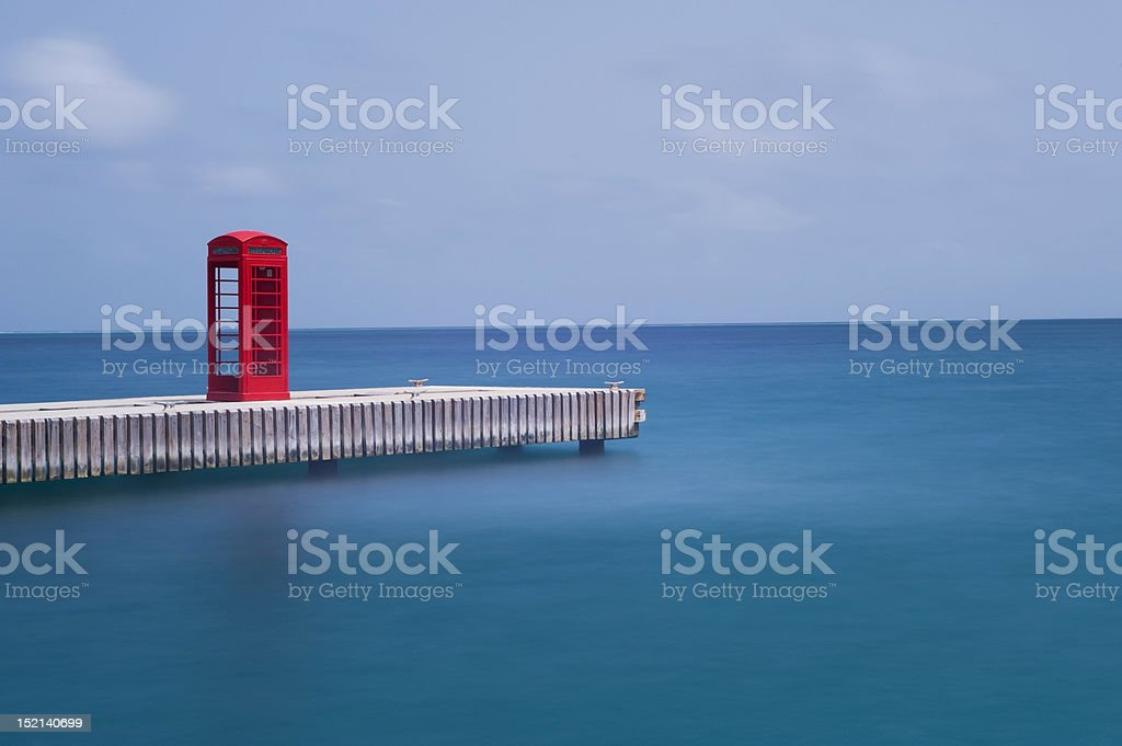 Call on the jetty royalty-free stock photo