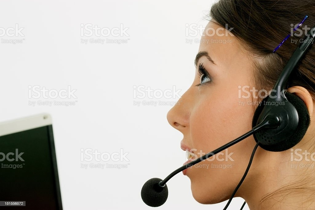 Call operater stock photo
