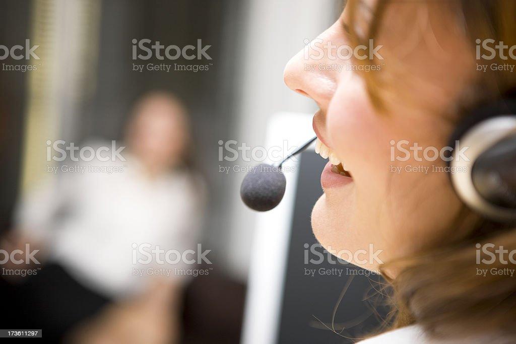 Call Operator stock photo