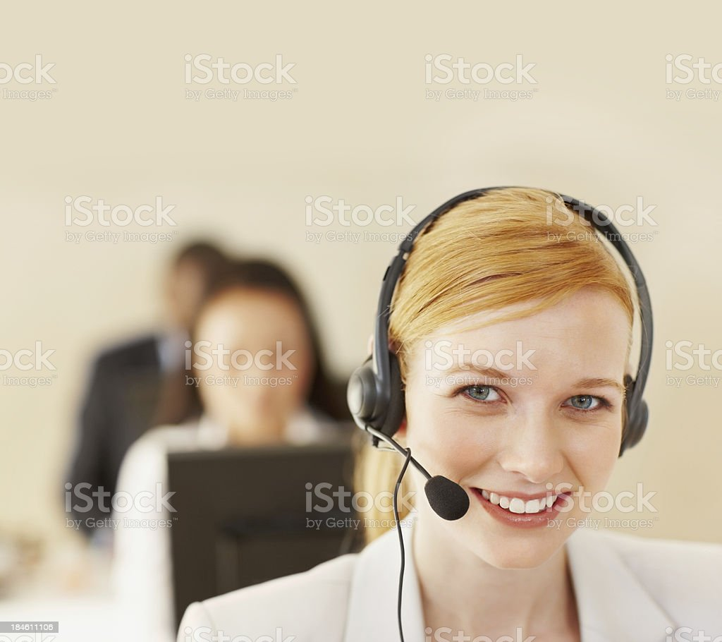 Call operator royalty-free stock photo