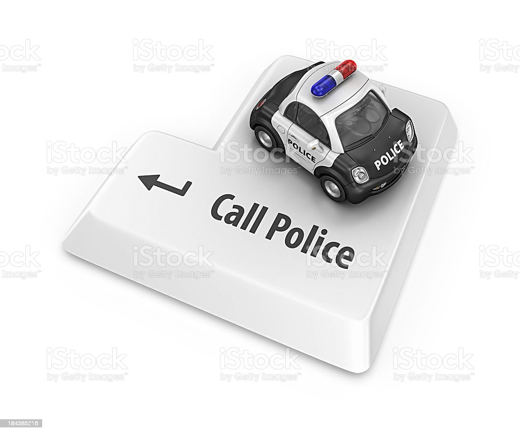 call police royalty-free stock photo