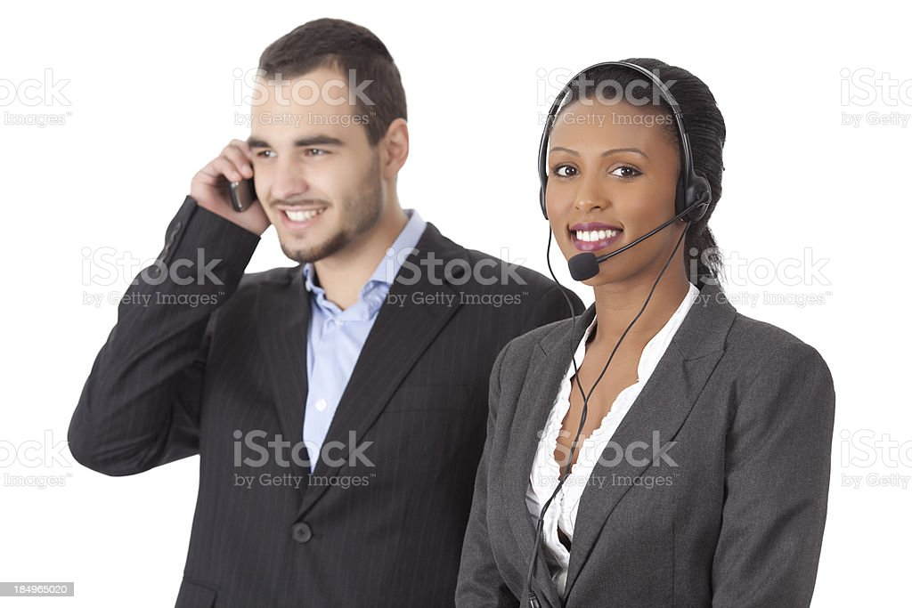 Call support service helping their clients. royalty-free stock photo
