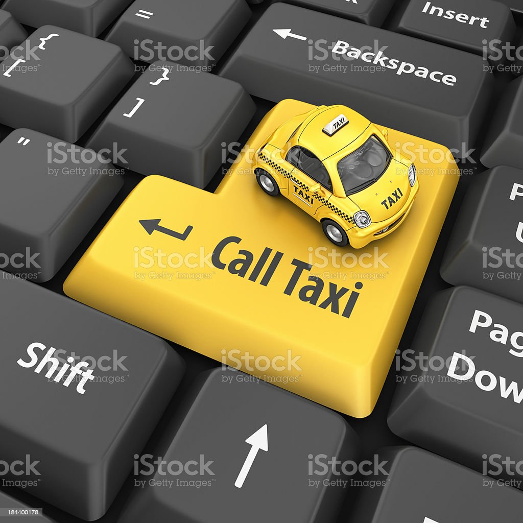 call taxi royalty-free stock photo