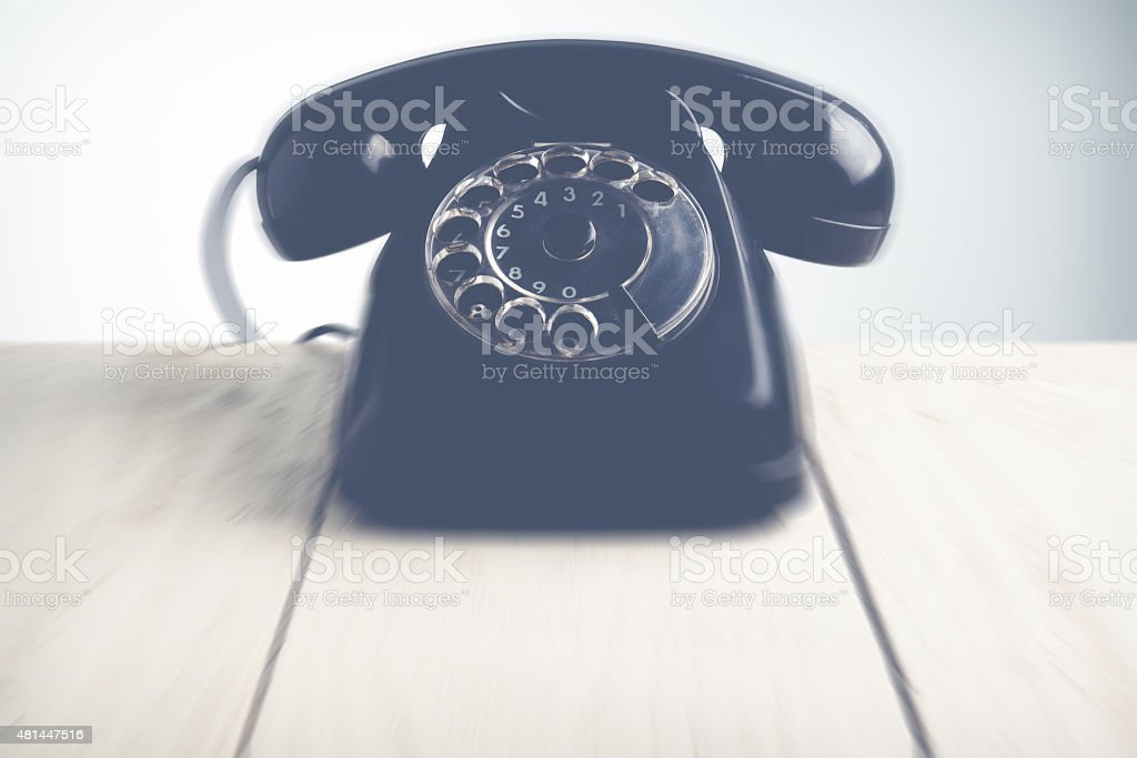 call us - blurred style photo stock photo
