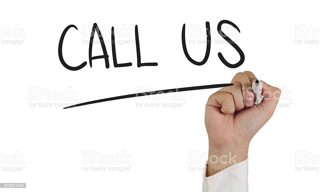 Call Us stock photo