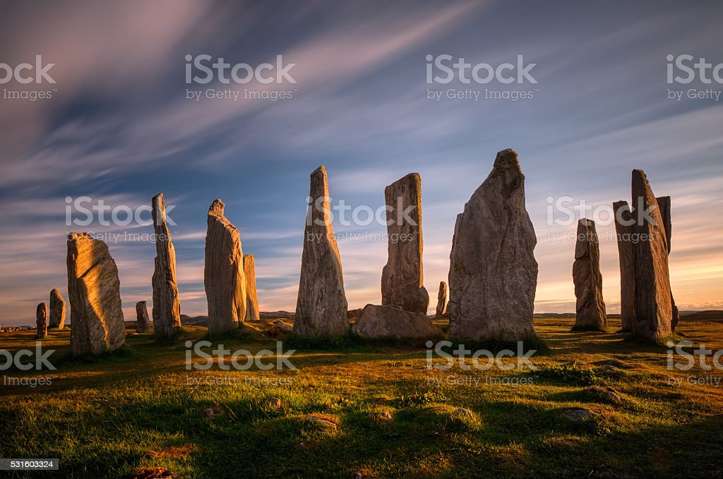 Callanish henge stock photo