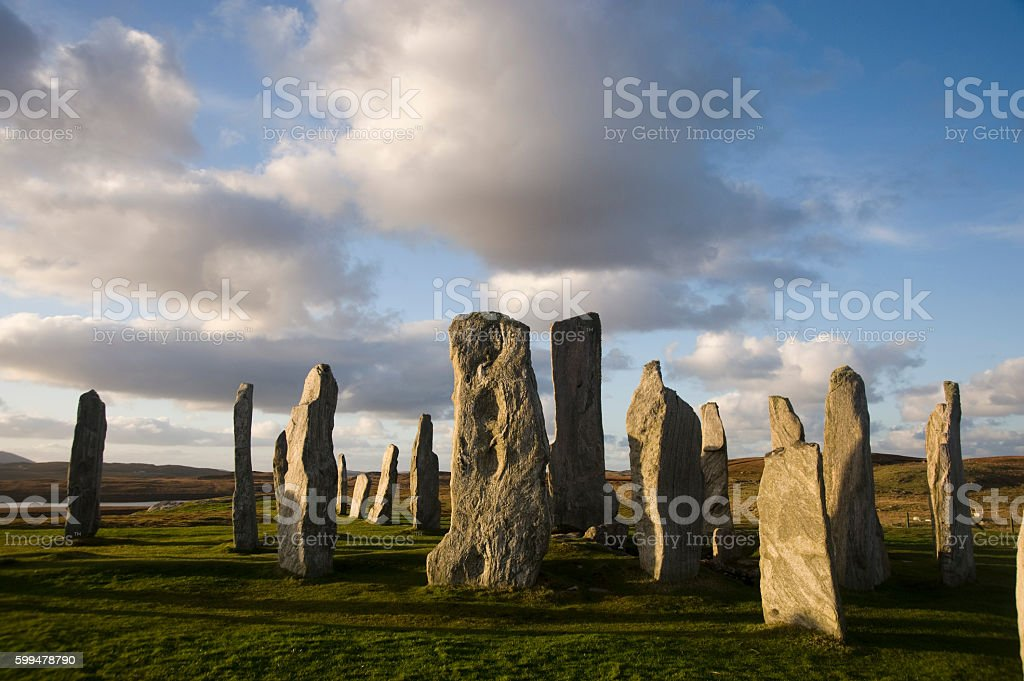 Callanish Standing stones in late summer. Isle of Lewis.Scotland. stock photo