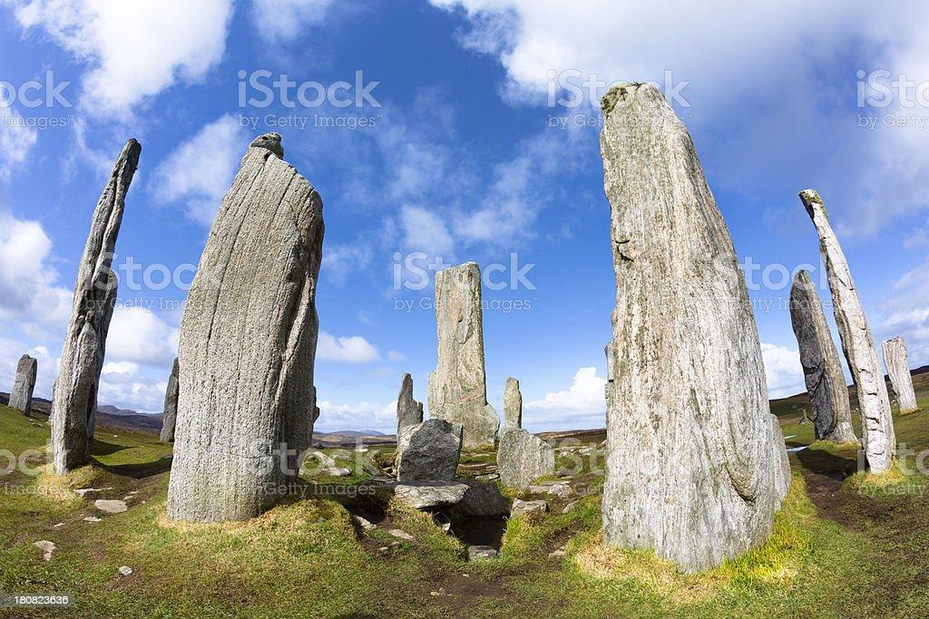 Callanish Standing Stones, Isle of Lewis royalty-free stock photo