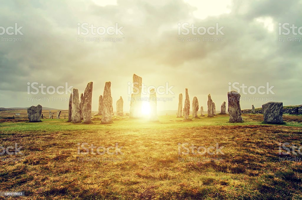 Callanish Standing Stones, Isle of Lewis stock photo