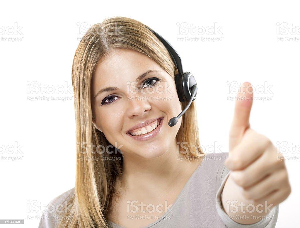 call-center representative royalty-free stock photo