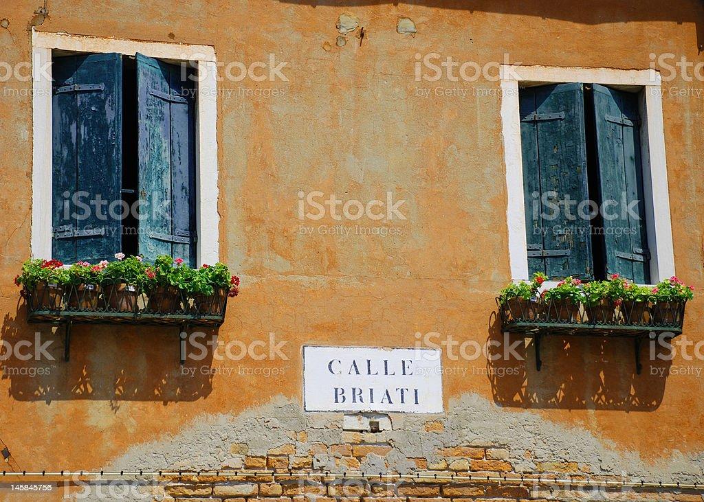 Calle Briati Burano Italia royalty-free stock photo