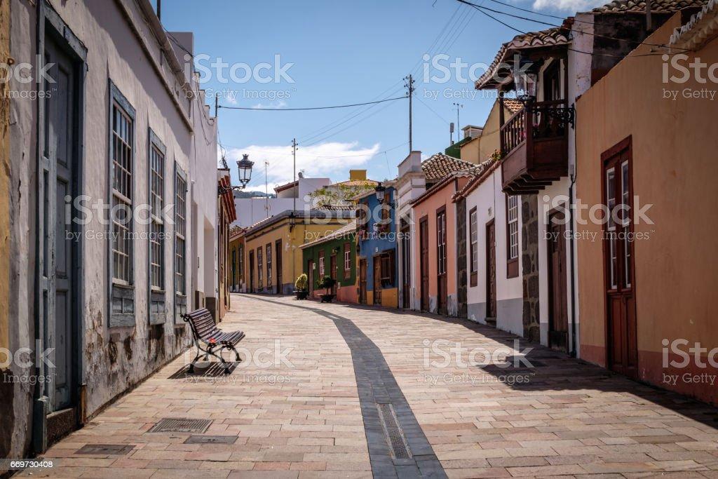 Calle Calvo Sotelo, Los Llanos, La Palma, Spain stock photo