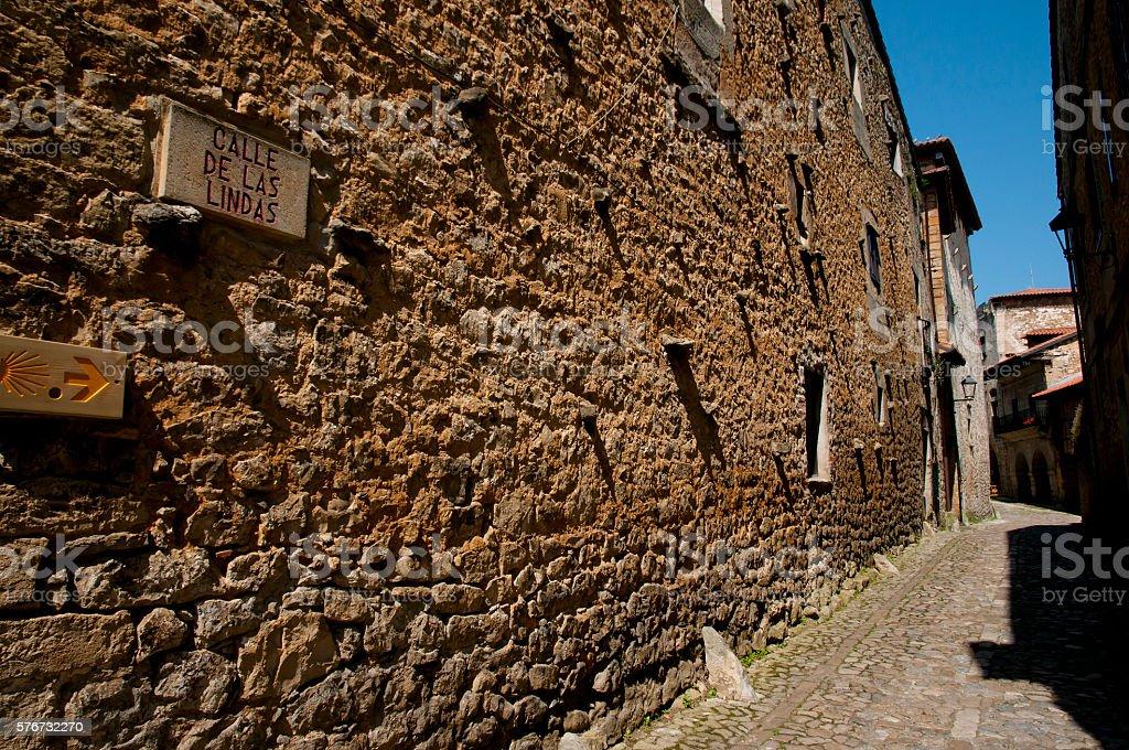 'Calle de las Lindas' - Santillana del Mar - Spain stock photo