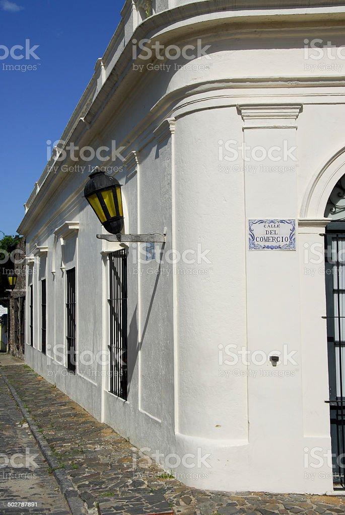 Calle del comercio stock photo