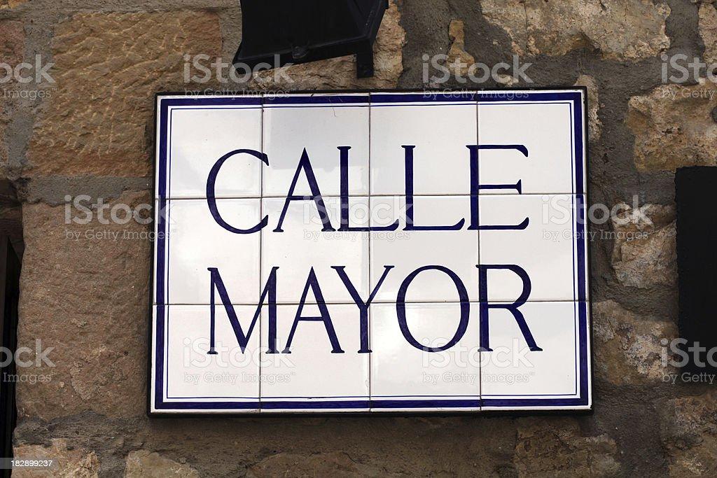 calle mayor royalty-free stock photo