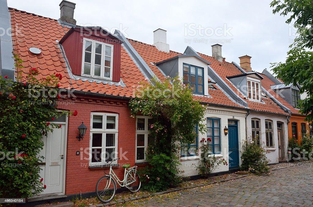 Calle Mollestien, Aarhus, Dinamarca stock photo
