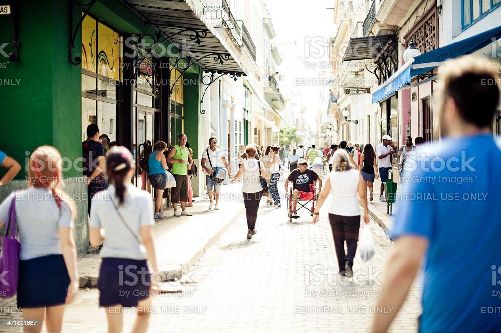 Calle Obispo royalty-free stock photo