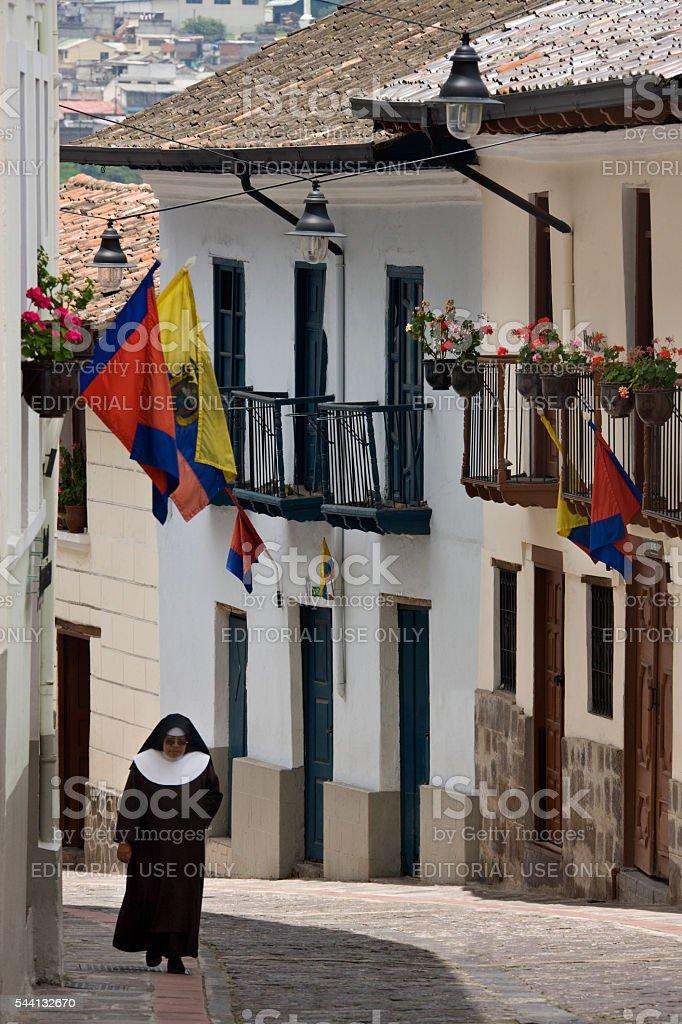 Calle Ronda - Quito - Ecuador stock photo