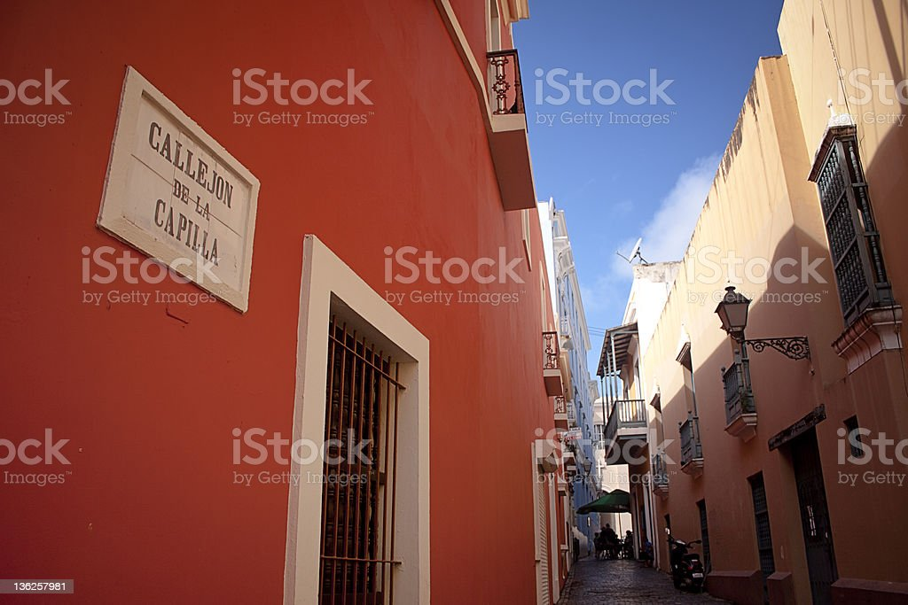 Callejon de la Capilla at San Juan royalty-free stock photo