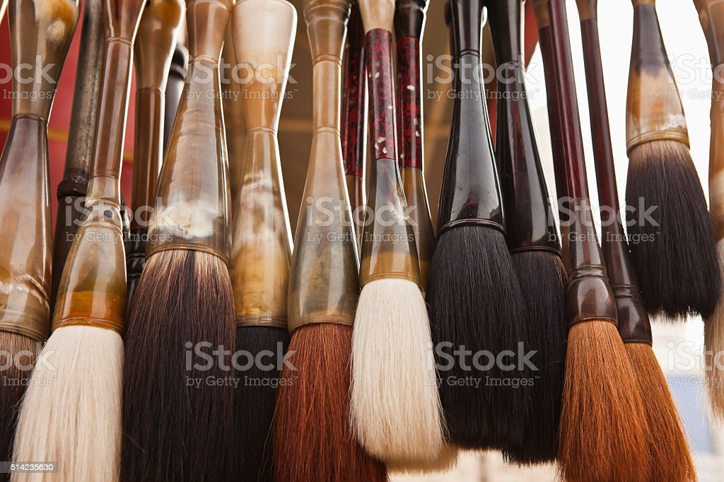 Calligraphy Brushes stock photo