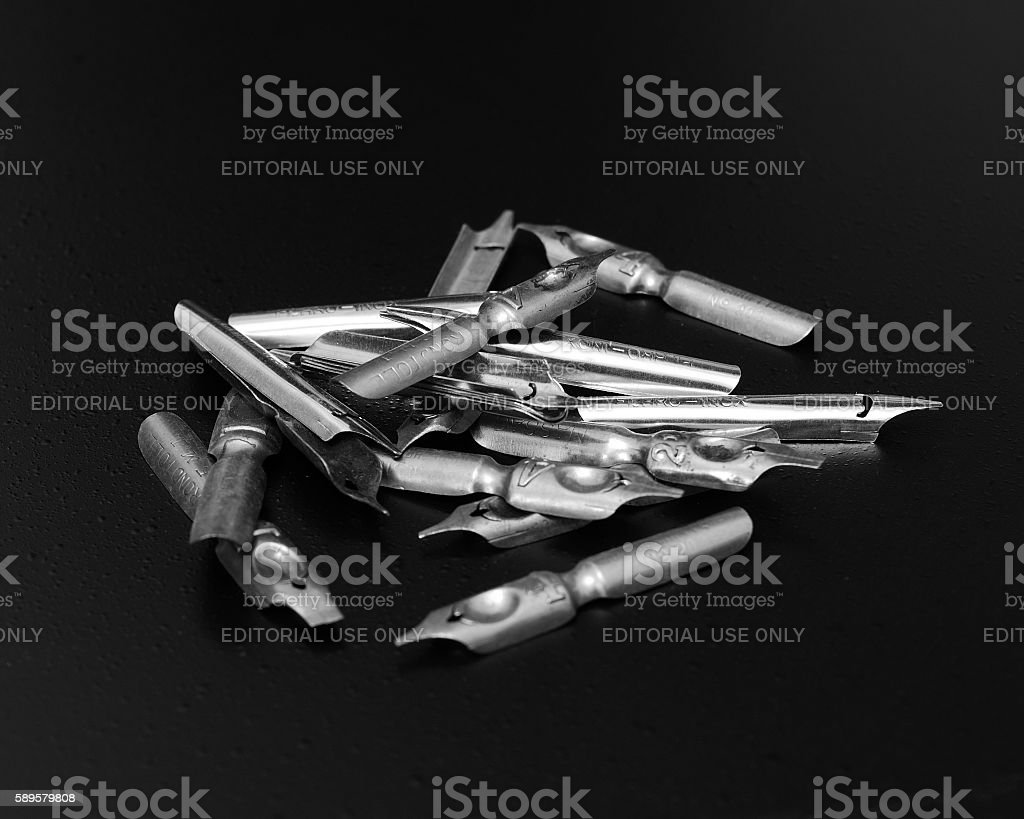 Calligraphy Pen Nibs stock photo