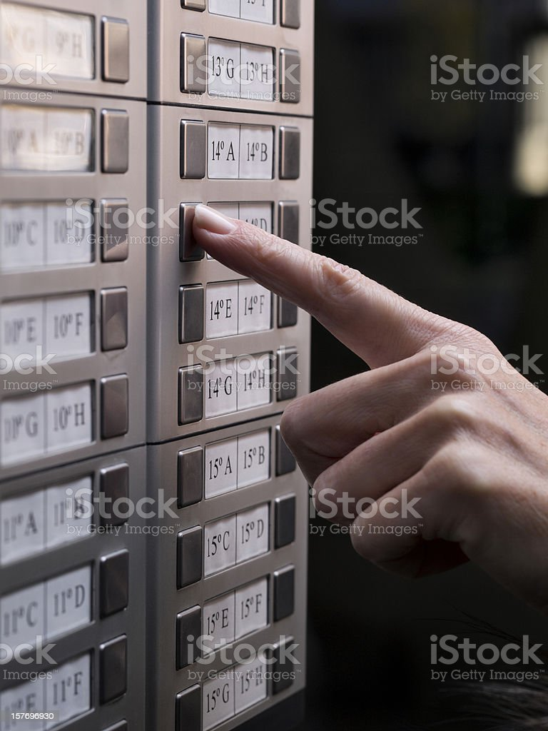 Calling a house stock photo