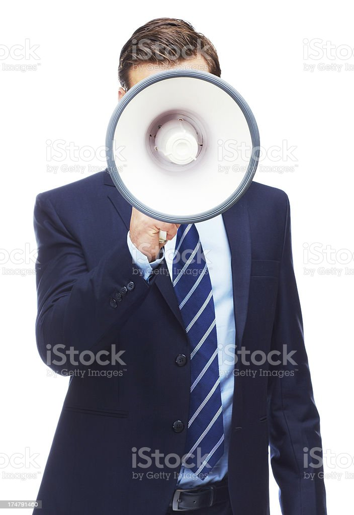 Calling all the shots royalty-free stock photo
