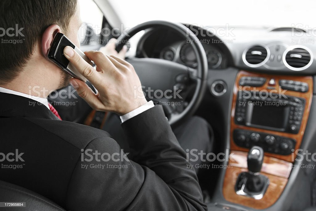 calling and driving royalty-free stock photo