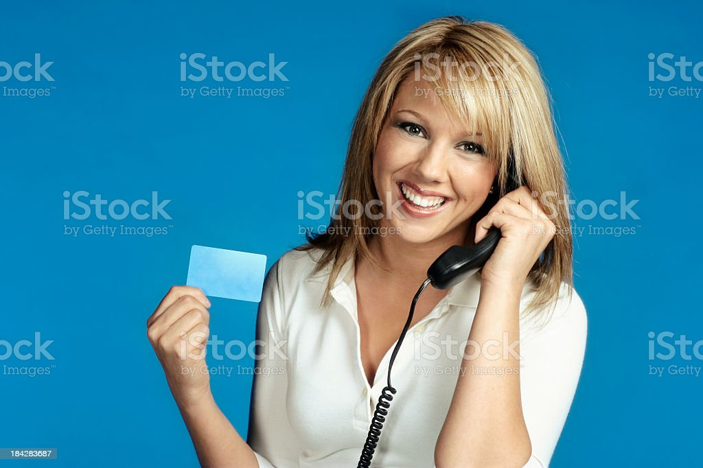 Calling Card stock photo