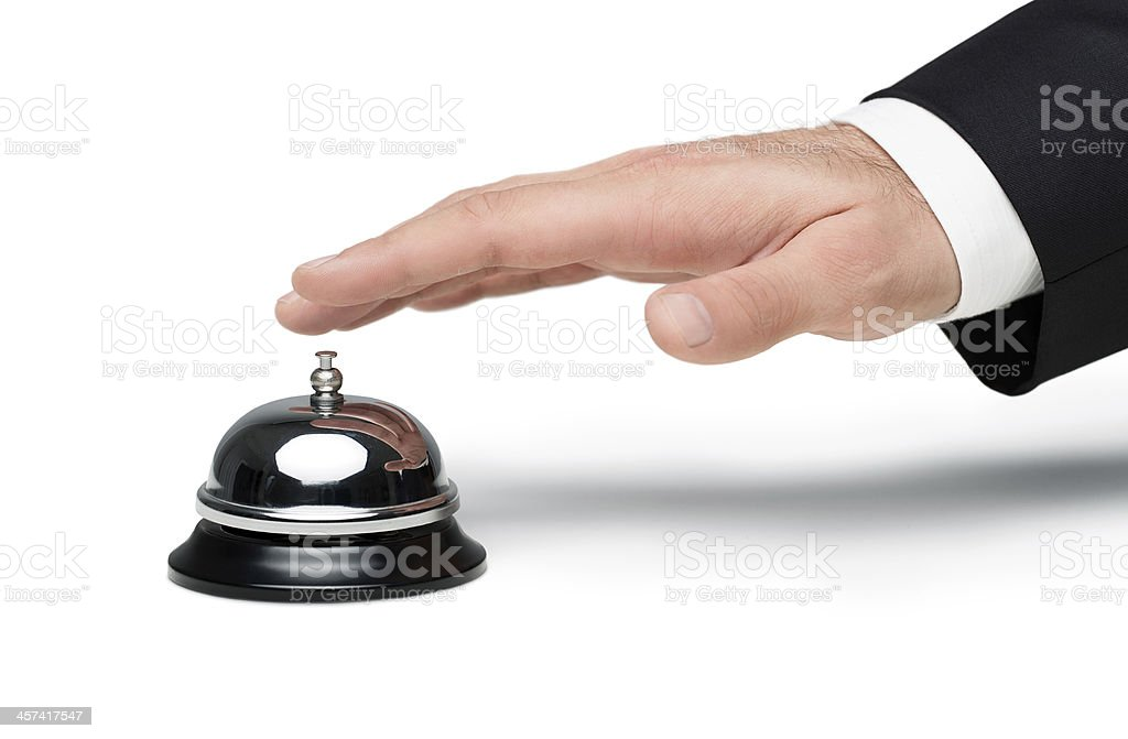 Calling for service stock photo