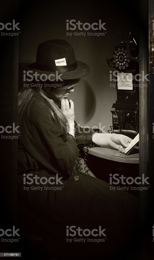 Calling In Her Story - Antique royalty-free stock photo