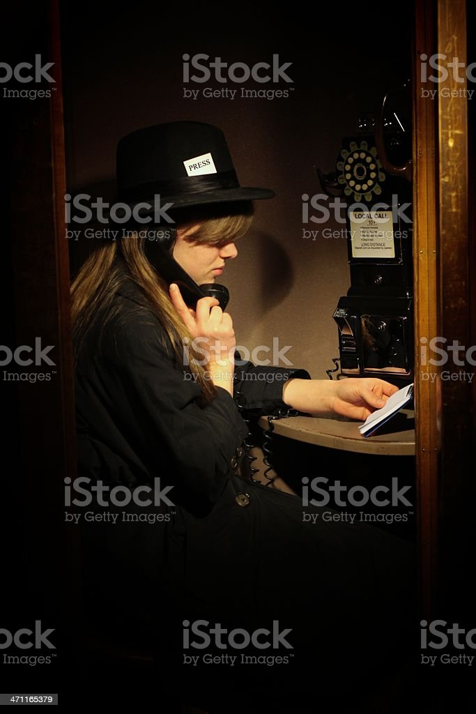 Calling In Her Story royalty-free stock photo
