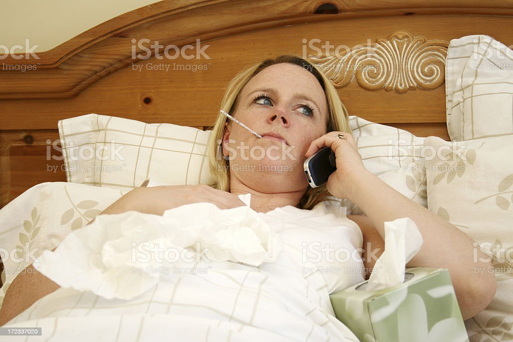 Calling in Sick royalty-free stock photo