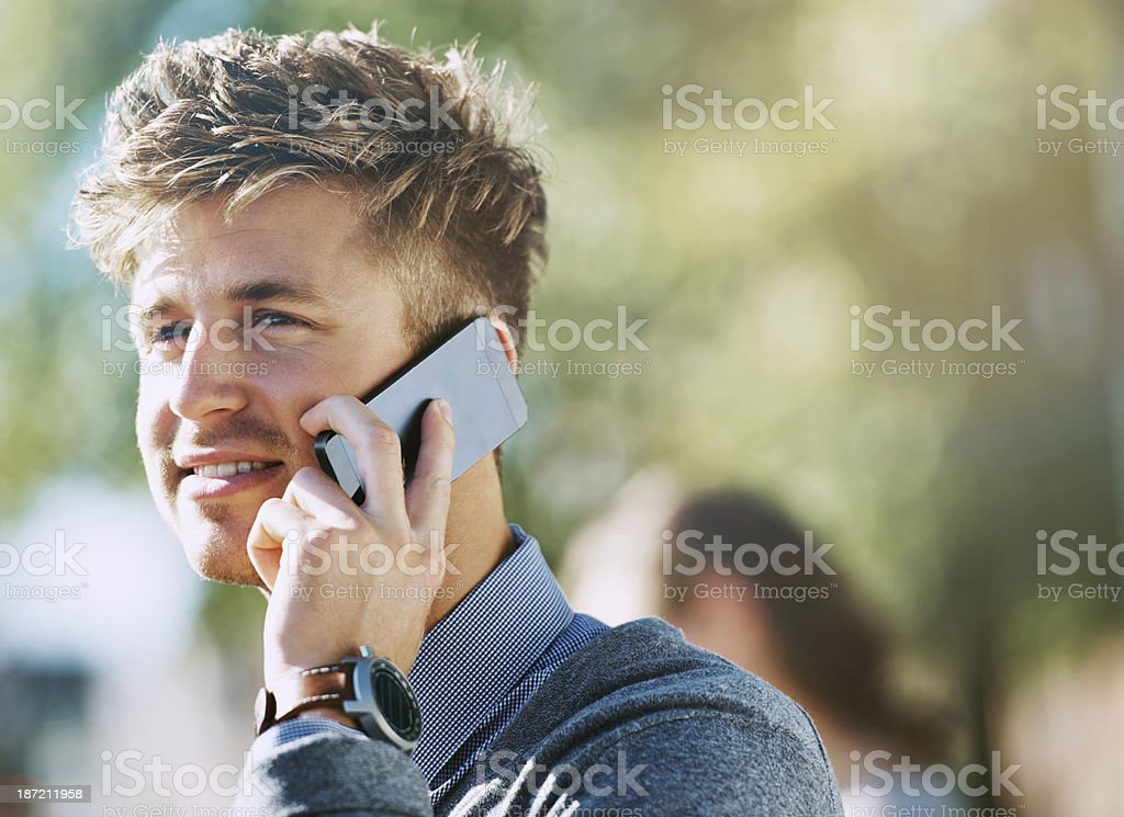 Calling mom royalty-free stock photo